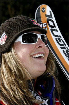 Lindsey Vonn smiles after winning her fifth World Cup downhill of the season and 10th of her career on Saturday, which earned her USA TODAY's Olympic Athlete of the Week award.