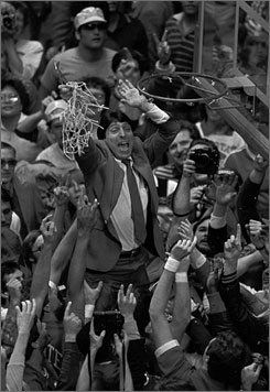 Jim Valvano died of cancer more than 10 years after leading the Wolfpack to their improbable national title in 1983.