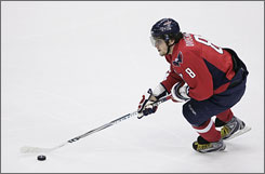 Alex Ovechkin leads the NHL in goals, points, power-play goals, shots and other offensive categories