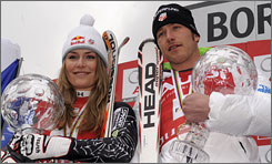 Lindsey Vonn and Bode Miller snag this week's USA TODAY Olympic Athlete of the Week award after winning the World Cup overall titles.