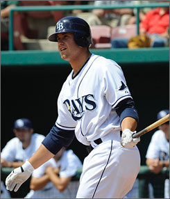 Evan Longoria has hit very well at all levels of the Rays farm system. The third baseman has a solid swing and plays great defense.