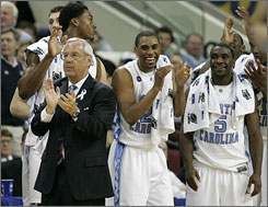 Arkansas will face Roy Williams' North Carolina team on Sunday.