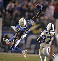 "This pick out of midair against Peyton Manning on Nov. 4 was his ""best play,"" according to Antonio Cromartie. How high can he go?  ""Fifteen interceptions is my goal,"" the Chargers cornerback said."