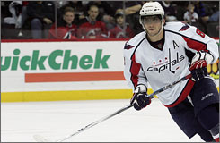 Get used to this guy: Alex Ovechkin signed an extension earlier this year that makes him a Capital until 2020-21.