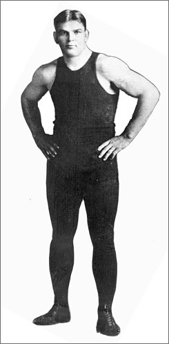 "Underdog Frank Gotch beat ""Russian Lion"" George Hackenschmidt 100 years ago, marking the Iowa native's place in wrestling history."