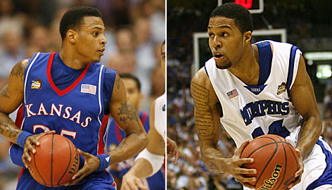 Kansas' Brandon Rush and Memphis' Chris Douglas-Roberts make up just one of several must-see matchups in Monday night's NCAA national championship game.