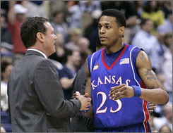 Kansas junior guard Brandon Rush could be one of many Jayhawks players  leaving coach Bill Self's team after the season ends.