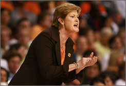 Pat Summitt ended the series between her Tennessee team and Geno Auriemma's UConn squad before this season and has no intention to restart it in the near future.