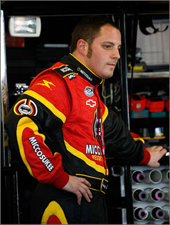 Driver Johnny Sauter has three victories and 21 top-five finishes in the Nationwide Series.