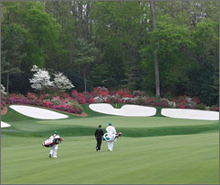 The three holes of Amen Corner provide a challenge for players amid the beauty of Augusta National.