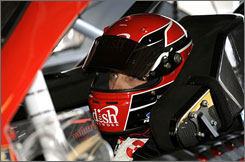"""Although engine problems and a 39th-place finish caused him to drop from third to an eighth-place tie with Ryan Newman, driver Greg Biffle still feels he's had a good season so far. """"I have to say it's exceeded my expectations,"""" said Biffle. """"I wouldn't have thought we'd be second in points (entering Martinsville, Va., last month), but I felt like we were capable of being in the top 10 for sure. I just hope to be able to continue to stay here."""""""