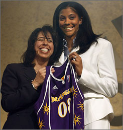 Two-time player of the year Candace Parker will take her game to the WNBA, as she was drafted by the Los Angeles Sparks with the first overall pick.