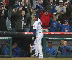 New Cub Kosuke Fukudome went 3-for-3 on opening day and tied the game with a three-run homer in the ninth inning, but the Brewers spoiled his day by winning in the 10th.