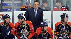 Jacques Martin was 110-100-36 in three seasons on the bench as Panthers coach.