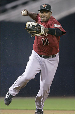 Miguel Tejada signed a 6-year, $72 million contract with the Baltimore Orioles in 2004. He was dealt to the Houston Astros in a trade this winter.