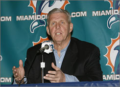 """What Bill does, what's made him successful everywhere ... he has a blueprint,"" CBS analyst Phil Simms said of Miami Dolphins boss Bill Parcells. ""He knows what he wants in every player on the field"