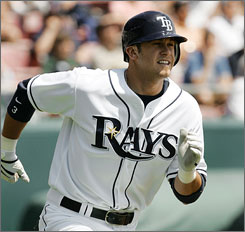 Rays third baseman Evan Longoria signed a six-year, $17.5 million deal after only six days of major league service time.
