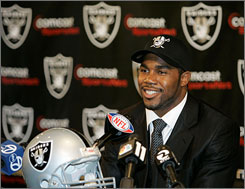 Darren McFadden, selected by Oakland with the fourth overall pick, joins a crowded backfield with the Raiders.