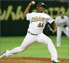 Santiago Casilla has been almost unhittable this season for the Oakland A's. If closer Huston Street should be traded or injured, Casilla could be in line to get save opportunities.