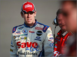 Carl Edwards, who leads the Sprint Cup series with three victories this season, has 10 Cup wins  all with Roush Fenway Racing.