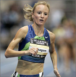 Shalane Flanagan broke the American record in the 10k on Sunday during a meet at Stanford University.