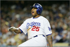 Dodgers center fielder Andruw Jones was hitting .174 through Friday with one home run and four RBI in 34 games.