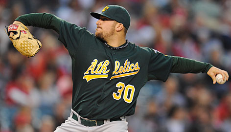 Dana Eveland, 24, is a key part of an A's pitching staff that leads the majors with a 3.29 ERA this season.