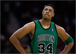Paul Pierce and the Celtics look to get back on track as their series against the Cleveland Cavaliers returns to Boston for Game 5 on Wednesday.