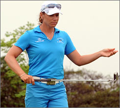 Annika Sorenstam will try to build on her 72 career tournament victories before she retires at the end of the year.