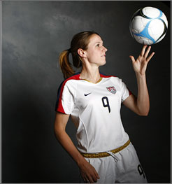 Heather O'Reilly, who said she was one of the last soccer players to make the Olympic team in 2004, is heading back to the games in Beijing with the goal of helping her generation of players win a gold medal.