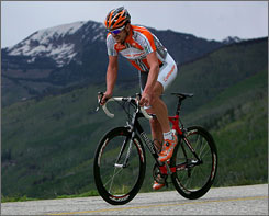 Pro cyclist Floyd Landis will bike to Charlotte along with the service members. The journey ends at Lowe's Motor Speedway.