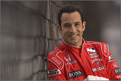 Helio Castroneves has a trophy for his dance-floor footwork to go with his two Indy 500 crowns.