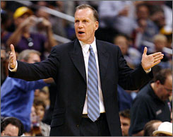 Doug Collins' most recent coaching stint was with the Washington Wizards. He has also been with the Detroit Pistons and Chicago Bulls during his coaching career.
