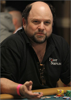 Jason Alexander is just one of the many celebrities who participate in the World Series of Poker. His best finish was 10th in a charity event.