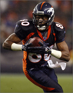 Rod Smith, Denver's all-time leading receiver, showed up at Broncos training camp to instruct this year's wide-outs.