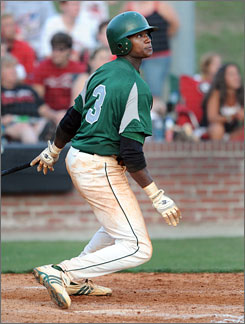 The Tampa Bay Rays selected Griffin (Ga.) High School shortstop Tim Beckham with the first overall pick of the 2008 baseball draft. Beckham hit .482 with six home runs and 41 RBI with 23 steals in 36 games this season.