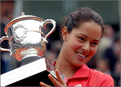 Ana Ivanovic won the French Open championship after dispatching Russia's Dinara Safina in straight sets 6-4, 6-3  at Roland Garros on Saturday.