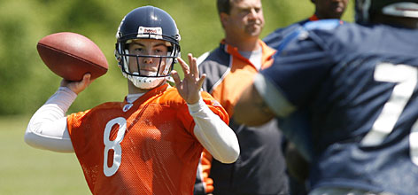 "Rex Grossman, demoted from the Bears' starting job last season, will get a chance to win it back in 2008. ""No one has been through as many lows as Rex has, but he has witnessed a lot of highs,"" coach Lovie Smith says. ""We know he can play at a high level."""