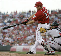 Reds left-handed hitter Jay Bruce is making the Reds look brilliant by batting .400 since being called up.