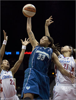 Minnesota Lynx guard Seimone Augustus, who leads the team in scoring at 19.9 ppg, has played a huge role in the transformation of the team that has finished the last two seasons with a 10-24 record. The Lynx are in first place in the Western Conference.
