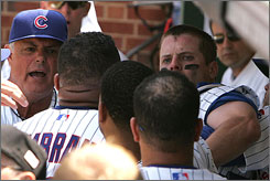 Feuds between teammates are being increasingly publicized. The scuffle between the Cubs' Michael Barrett and Carlos Zambrano last year sent Barrett to the hospital  and ultimately to the Padres.