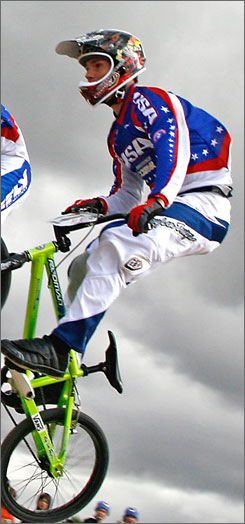 Steven Cisar is coming off a second place finish at the BMX world championships last month and is aiming to secure a spot on the U.S. Olympic team.