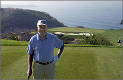 "Rees Jones has developed a reputation for himself as the ""Open Doctor"" on the PGA Tour. Here, he stands on the tee of the par-3 third hole he redesigned at Torrey Pines."