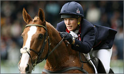 Queen Elizabeth's granddaughter Zara Phillips was announced as an Olympic qualifier earlier this year, but she has withdrawn from the competition due to an injury to her horse Toytown, show in this photo from 2006.
