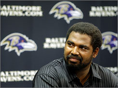 Jonathan Ogden announced his retirement from the NFL on Thursday after 12 years in the league. He will likely be part of a crowded group on the 2013 ballot for the Pro Football Hall of Fame.