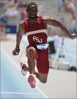 Ramon Taylor finished fifth in the triple jump, and helped Florida State win its third consecutive track championship.