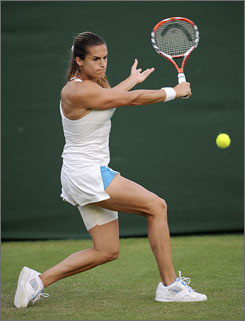 Amelie Mauresmo, 28, is ranked No. 33 in the world, and one of only seven players in the top 100 who still features a one-handed backhand.