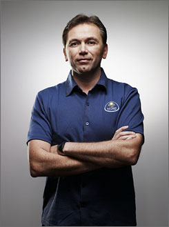 Astana manager Johan Bruyneel is promoting his new book across the United States.