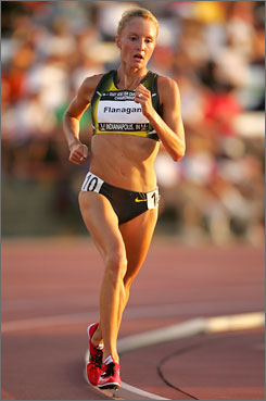 Shalane Flanagan holds the United States records in the 5,000 and the 10,000 meters but prefers the 5,000 race.