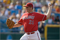 Fresno State's Justin Wilson pitched eight innings of one-run ball and struck out nine in the Bulldogs' College World Series victory over Georgia, 6-1.